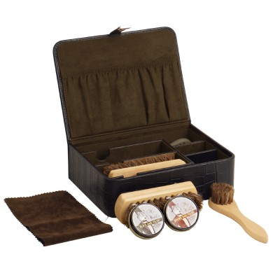 Wolf Designs Shoe Shine Kit Crocodile Leather