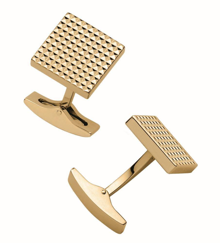 St Dupont Diamond Head Cuff Link Square Yellow