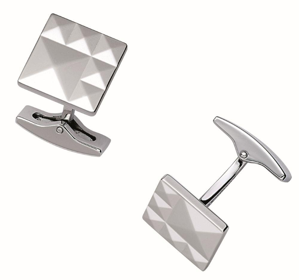 St Dupont Cuff Links Palladium 6 Diamond Heads