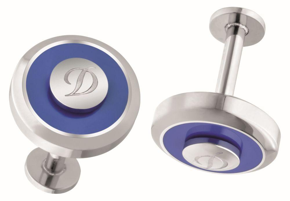 St Dupont - Cuff Links Jet Reversible Blue