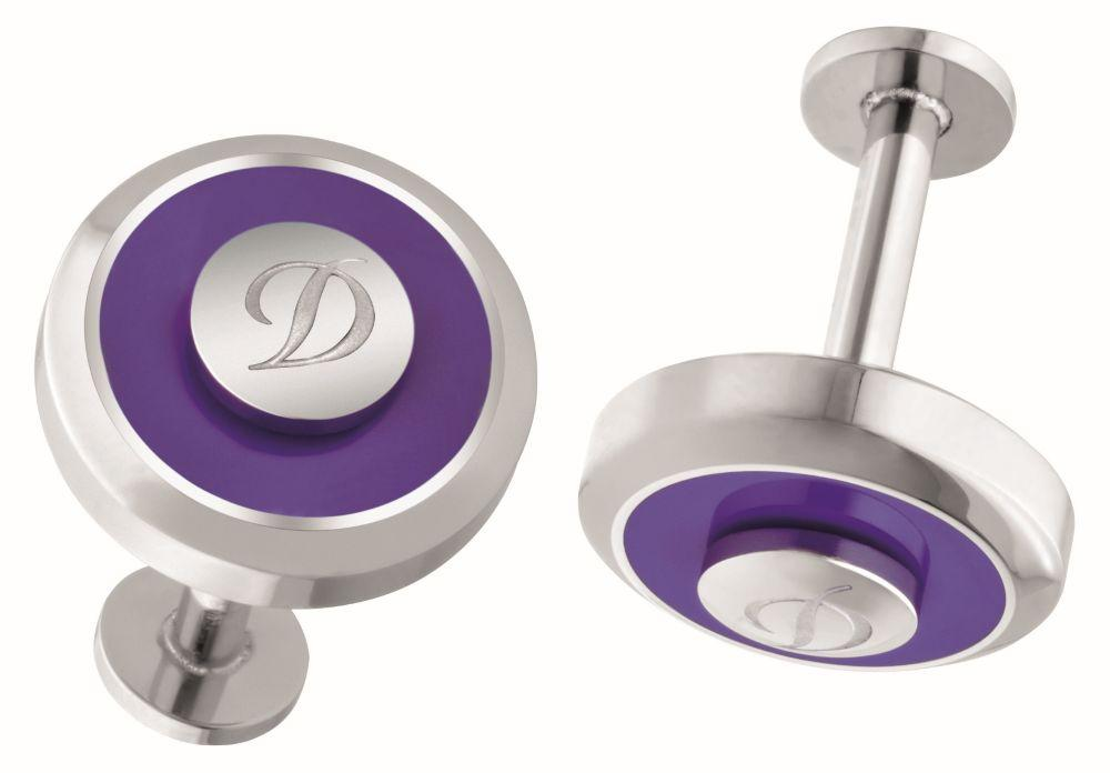 St Dupont - Cuff Links Jet Reversible Purple